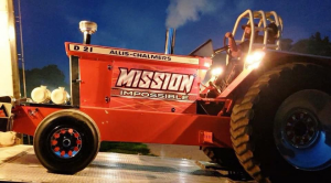 Mission Impossible pulling tractor