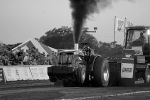 Beyond Limits tractor at a tractor pulling event